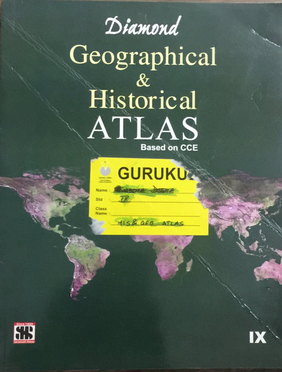 Diamond Geographical and Historical Atlas - Std IX