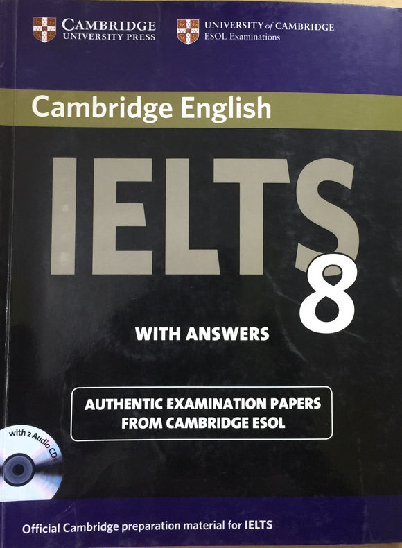 Cambridge English IELTS 8 Book with Answers and Audio CD by Camb Esol