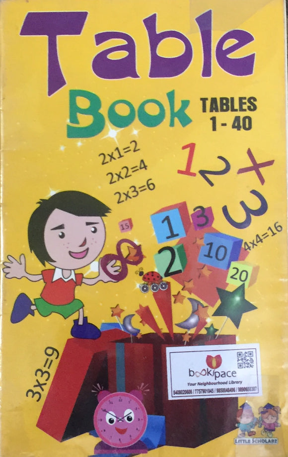 Table Book - 1 to 40