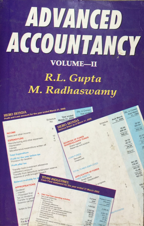 Advanced Accountancy Vol 2 by R L Gupta, M Radhaswamy