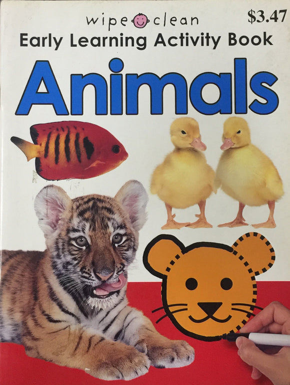 Early Learning Activity Book - Animals (Wipe and Clean)
