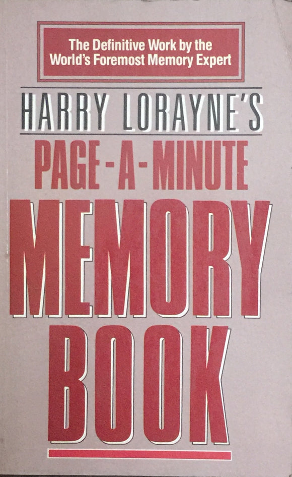 Page A Minute Memory Book by Harry Lorayne