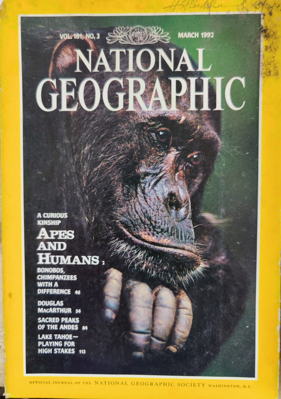 National Geographic March 1992