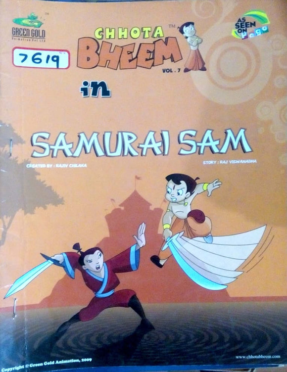 Chhota Bheem Vol. 07 in Samurai Sam by Rajiv Chilka