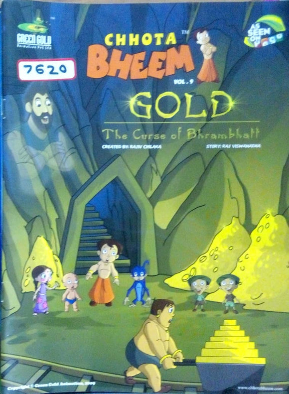 Chhota Bheem Vol. 09 in The curse of bhrambhatt by Rajiv Chilka