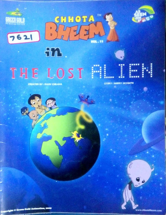 Chhota Bheem Vol. 11 in The lost alien by Rajiv Chilka