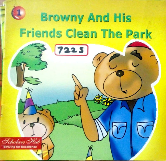 Browny and his friends clean the park