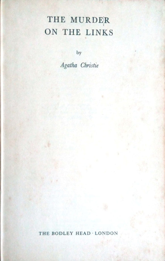 The murder of the links by Agatha Christie