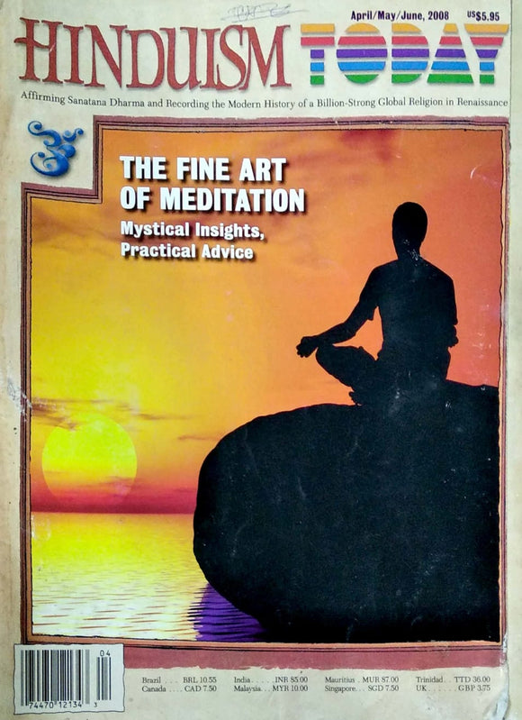 Hinduism Today Apr/May/June 2008: The fine art of meditation
