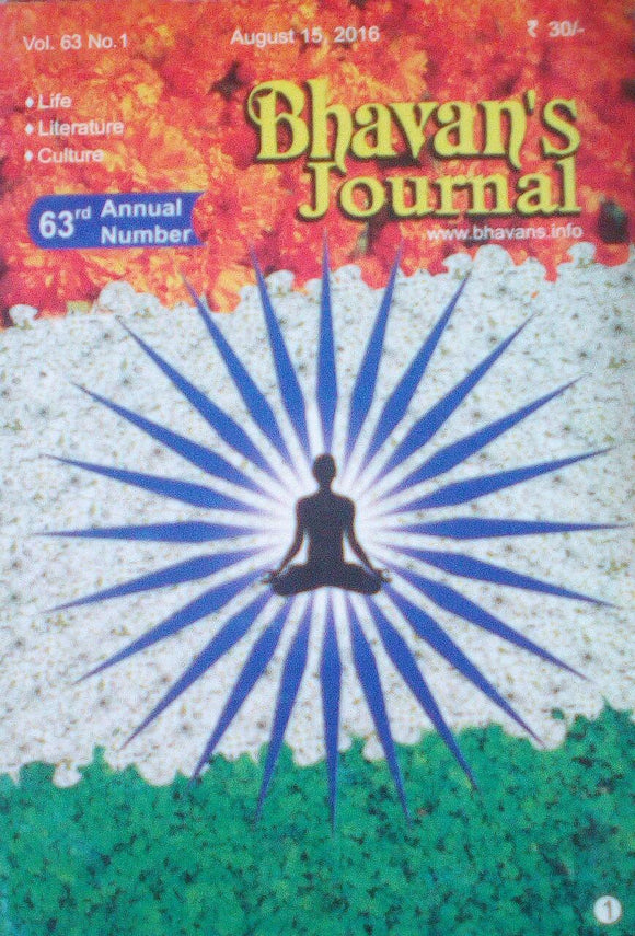 Bhavan's Journal August 15 2016 Vol 63 No 1