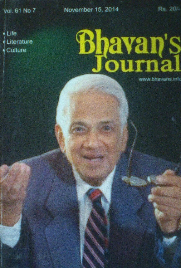Bhavan's Journal November 15 2014 Vol 61 No 7