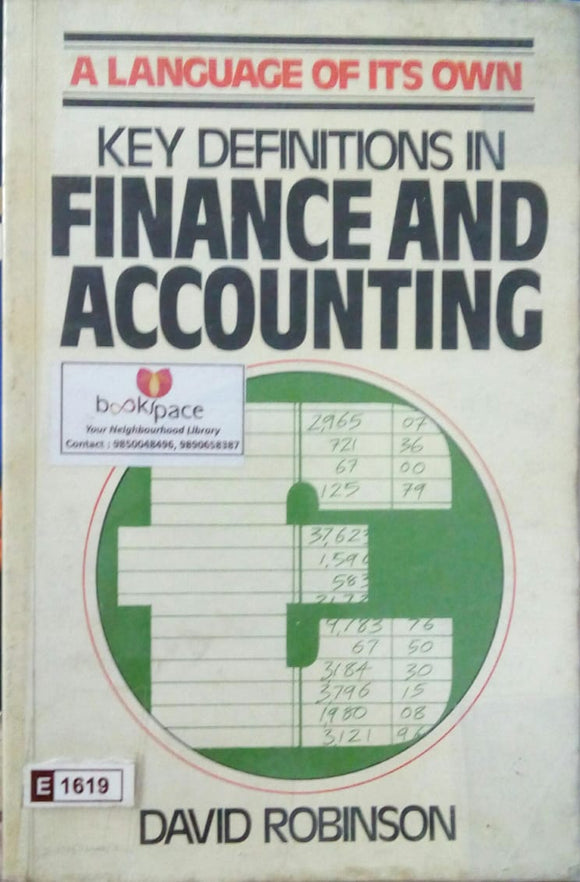Finance and Accounting by David Robinson