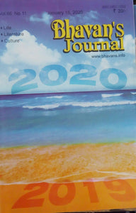 Bhavan's Journal Jan 15 , 2020 Vol.66 No.11