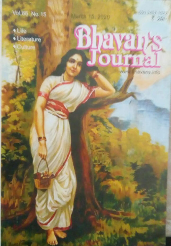 Bhavan's Journal March 15 , 2020 Vol.66 No.15
