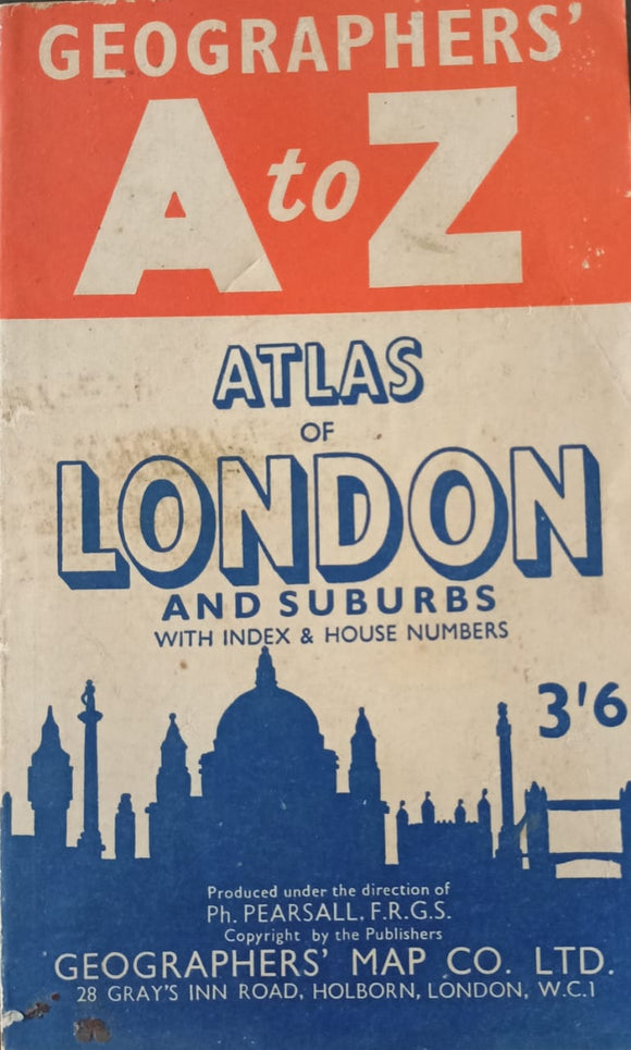 Geographer's A To Z Atlas Of London And Subur With Index And House Numbers