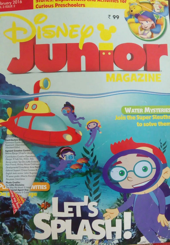 Disney Junior Magazine Feb 2016  Vol.3  Issue.2