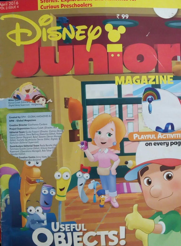 Disney Junior Magazine April  2016  Vol.3  Issue.4