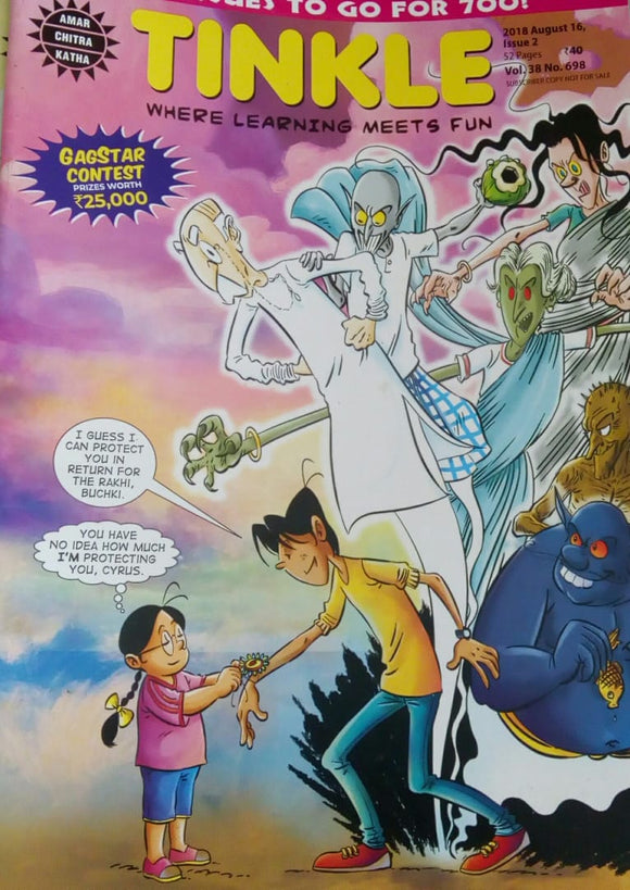 Tinkle Aug  16  2018  Issue.2  Vol.38  No.698