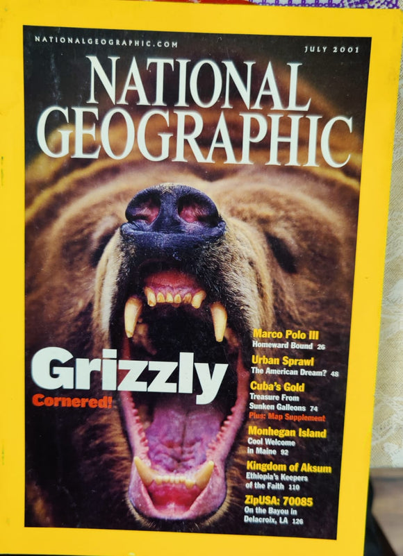 National Geographic July 2001
