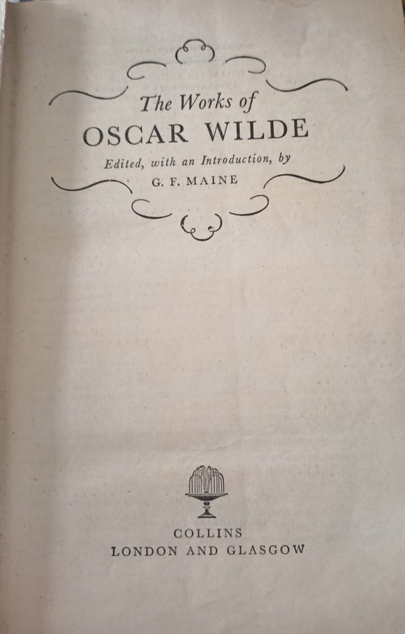 The Works Of Oscar Wilde By G .F. Maine