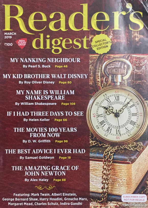 Reader's Digest,    March 2019