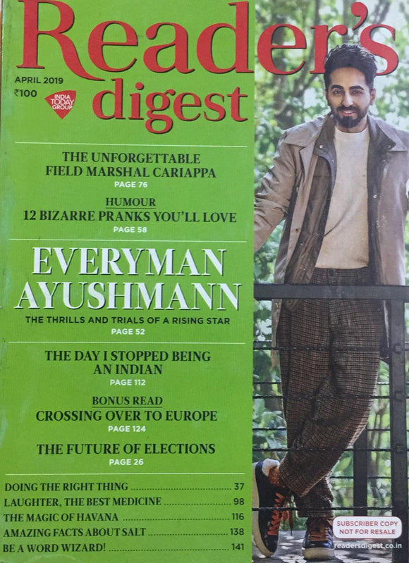 Reader's Digest,    April 2019