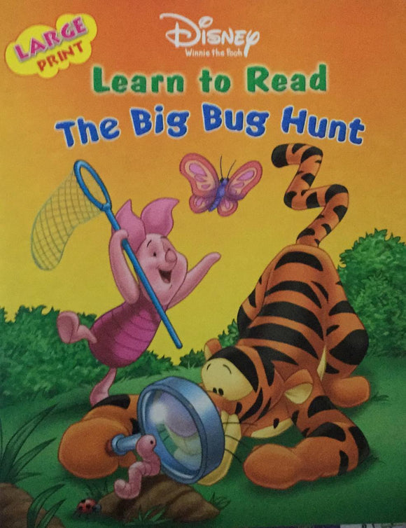 Disney Winnie The Pooh Learn to Read, The Big Bug Hunt,, Large Print