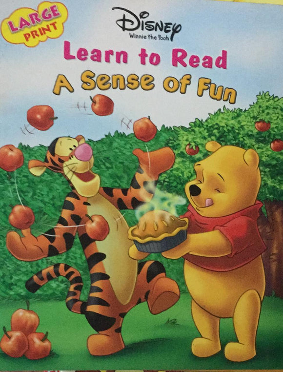 Disney Winnie The Pooh Learn to Read A Sense Of Fun, Large Print