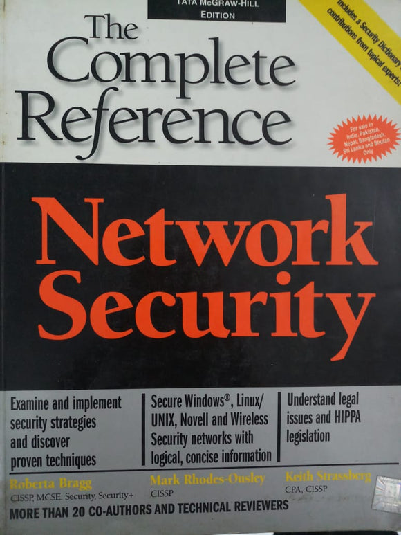 The Complete Reference Network Security By Roberta Bragg