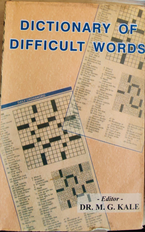 Dictonary of Difficult Words by Dr M.K Kale
