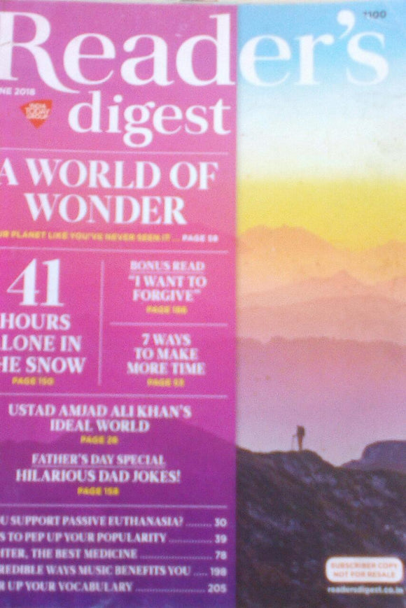 Reader's Digest India June 2018