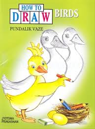 how to draw birds pundalik vaze book jyotsna prakashan