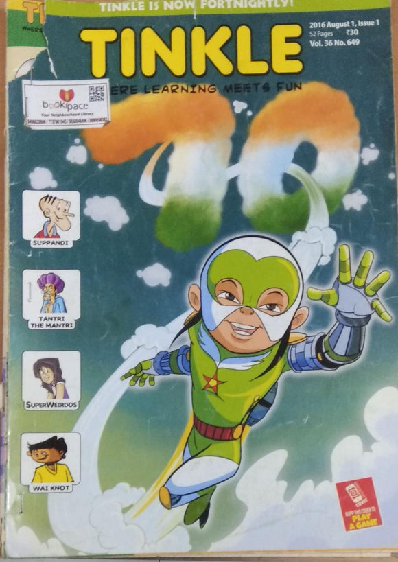 Tinkle August 2016 vol 36 no 649