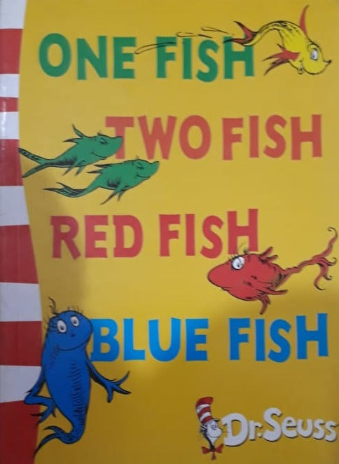 One Fish , Two Fish , Red Fish , Blue Fish By Dr Seuss First page scribble