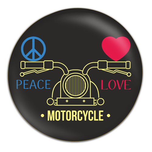 Badges – Peace+Love+Motorcycle
