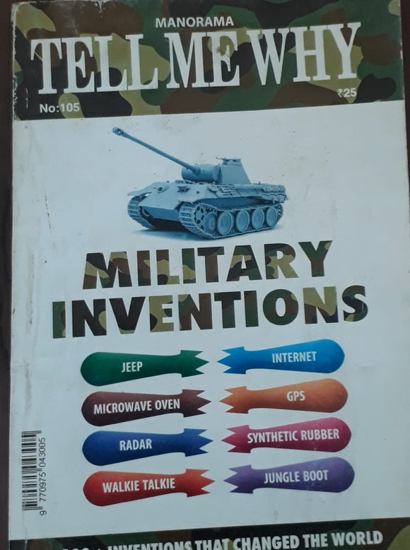 Manorama Tell Me Why - Military Inventions