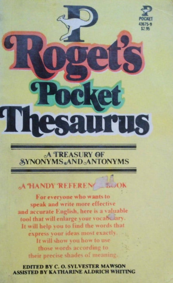 Rogets Pocket Thesaurus