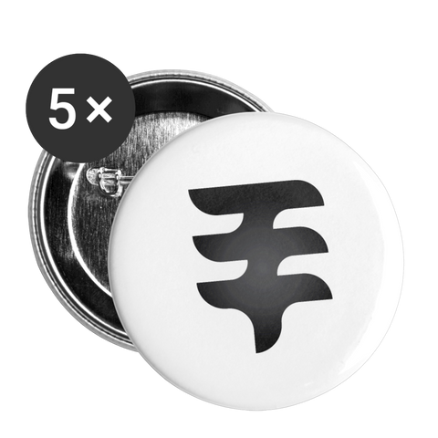 Tree Gang Button 5 Pack - white