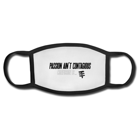 """Contagious Views"" Mask - white/black"
