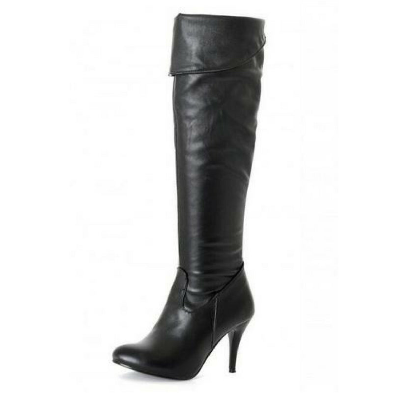 Thigh High Roll Down Boots - Upstart Clothing Company