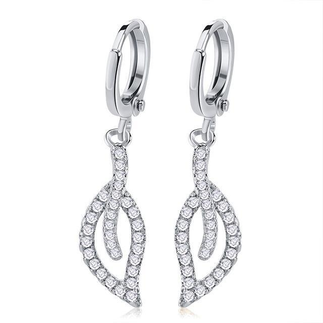 Luxury Silver/Gold Drop Crystal Earrings - Upstart Clothing Company