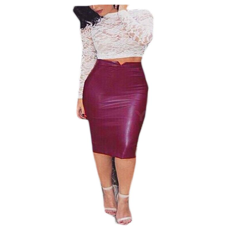 High Waist Midi Bodycon Pencil Skirt - Upstart Clothing Company