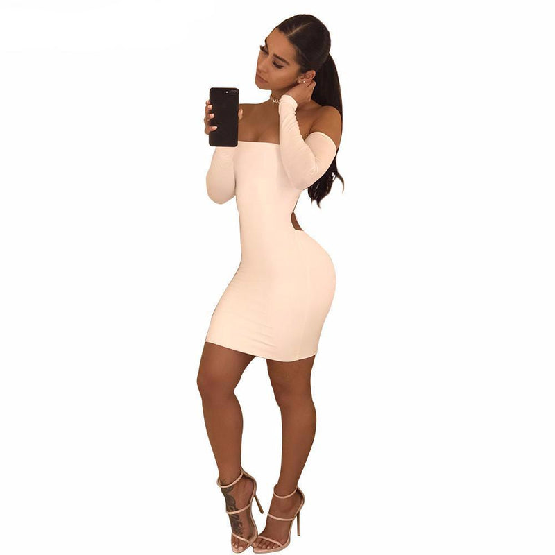 Off the Shoulder Bodycon Mini Dress - Upstart Clothing Company