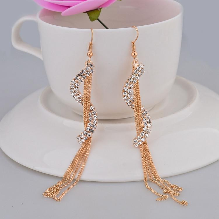 S-Shape Long Tassel Drop Earrings - Upstart Clothing Company