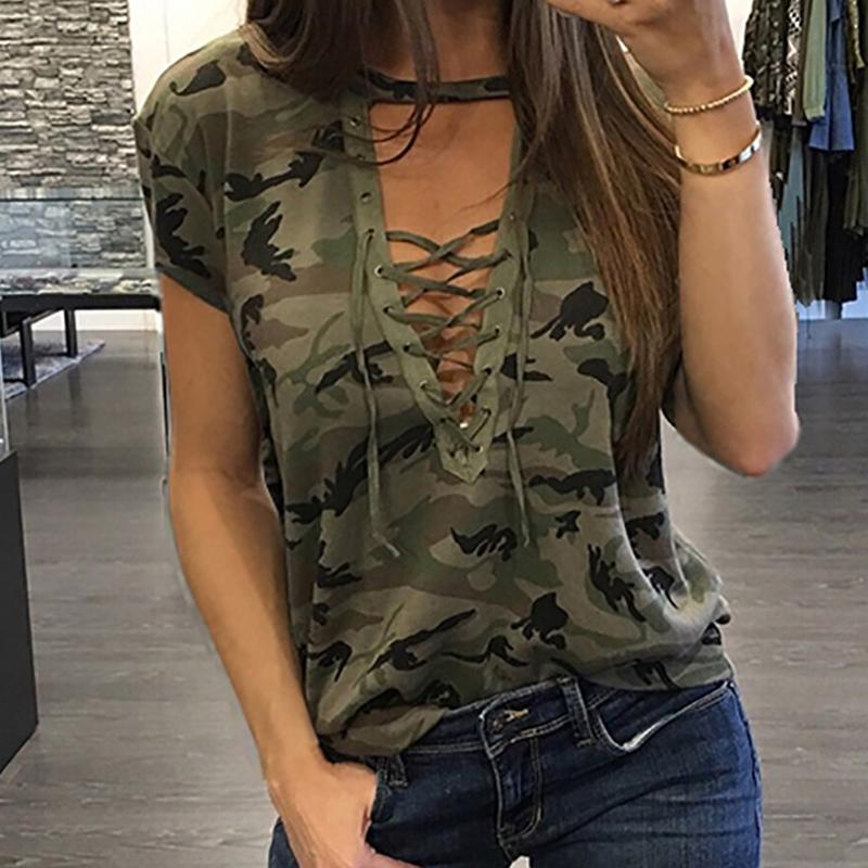 Battlefield V-Neck Camouflage Top - Upstart Clothing Company