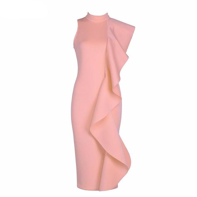 Flawless Ruffled Bodycon Dresses - Upstart Clothing Company
