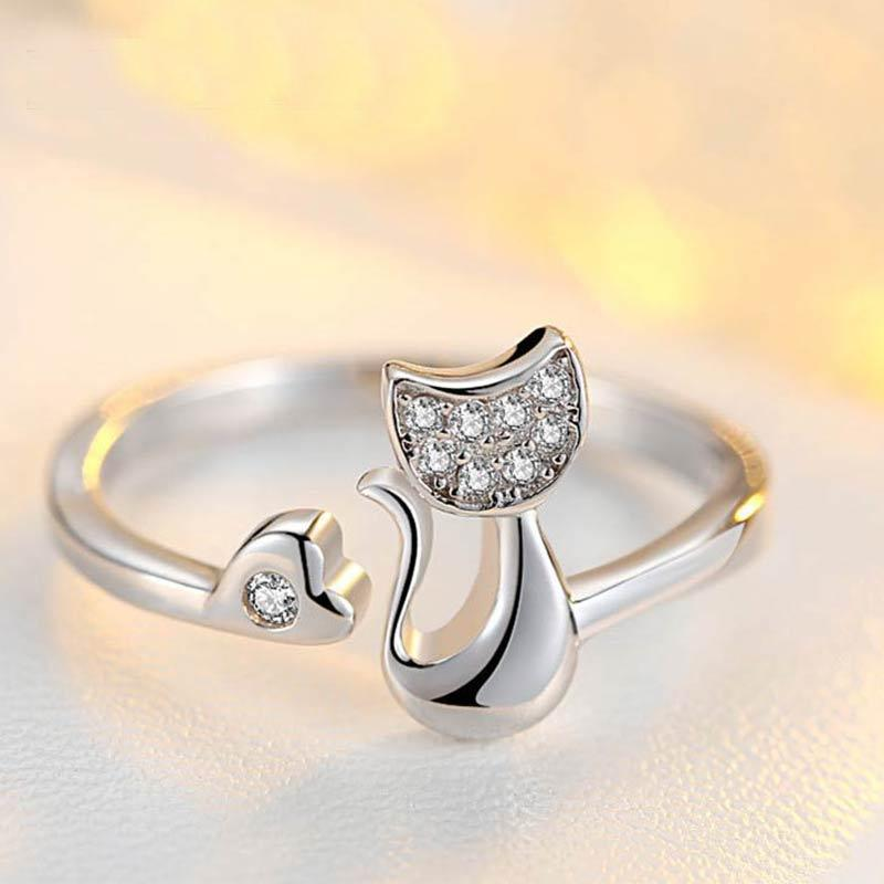 Crystal Cat Ring - Upstart Clothing Company