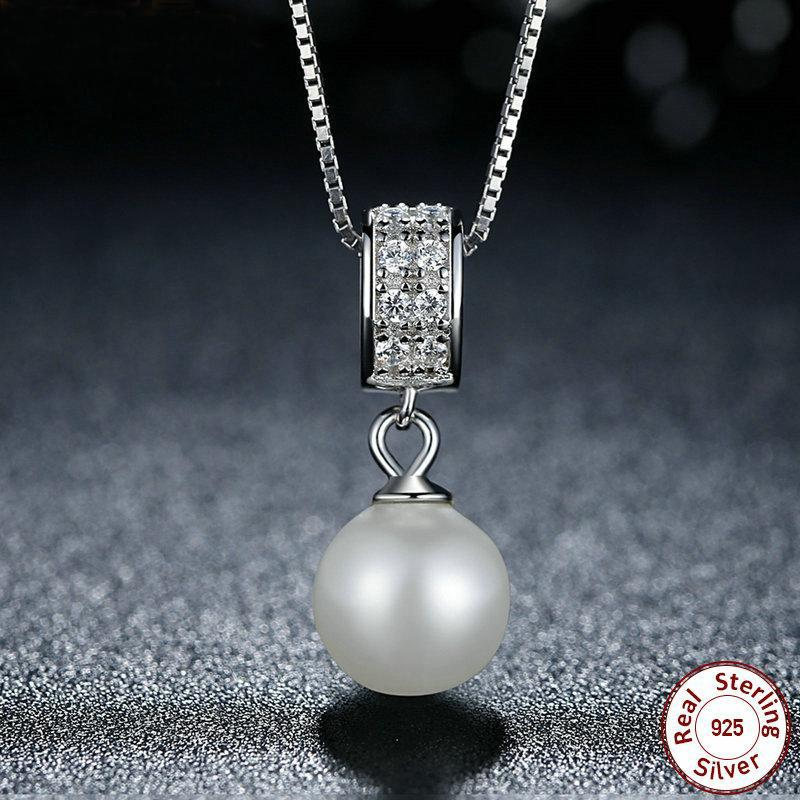 Simulated Pearl Pendant Necklace - Upstart Clothing Company