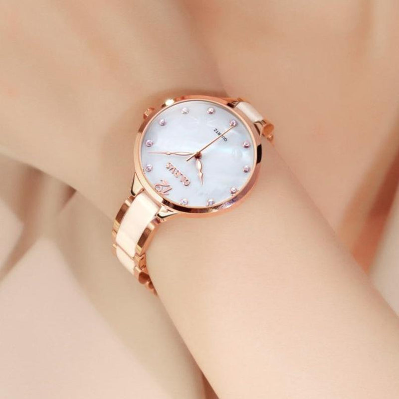 Rose Gold Women's Ceramic Watch - Upstart Clothing Company