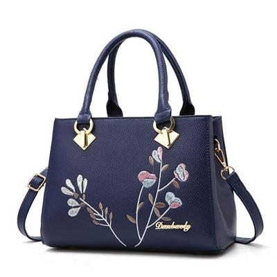 Flowers Decoration Totes Rivet Handbag - Upstart Clothing Company
